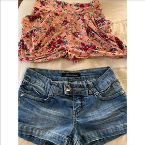 Other - Flower and Jean Girl Shorts